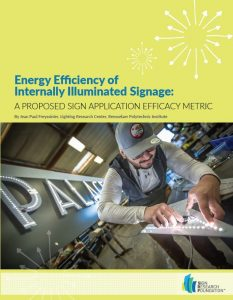 Energy Efficiency of Internally Illuminated Signage