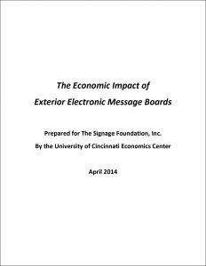 The Economic Impact Of Exterior Electronic Message Boards Sign Research Foundation